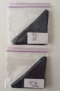 half squares in bags