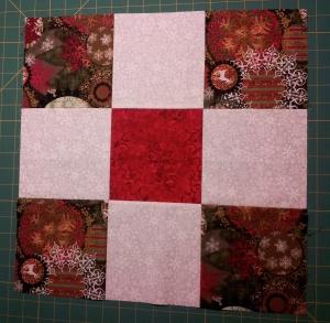 "Nine patch using 6"" cut squares."