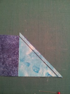 cut trapezoid with triangle on 45 degree edge