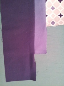 """Both borders sewn together and sew onto quilt stopping 1/4"""" from corner."""