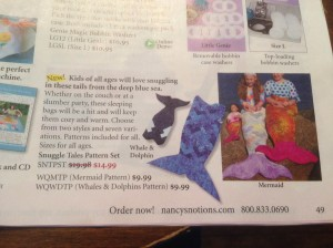 Snuggle Tails in Nancy's Notions catalog