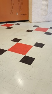 Tile floor at Churchill Downs
