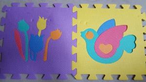 Puzzle floor pads